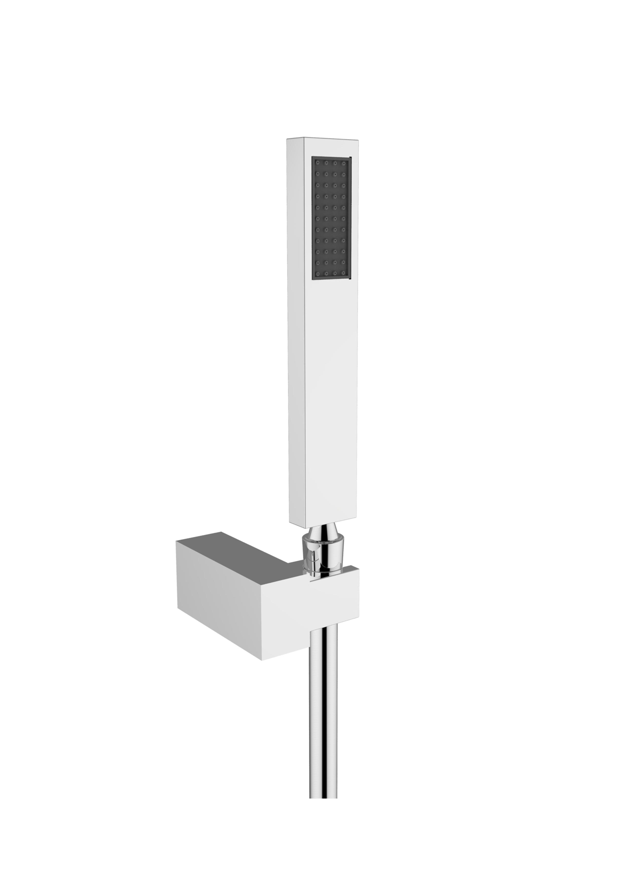 Immagine HD Shower set (Silver flex L=1500mm, brass hand shower, ABS shower holder)