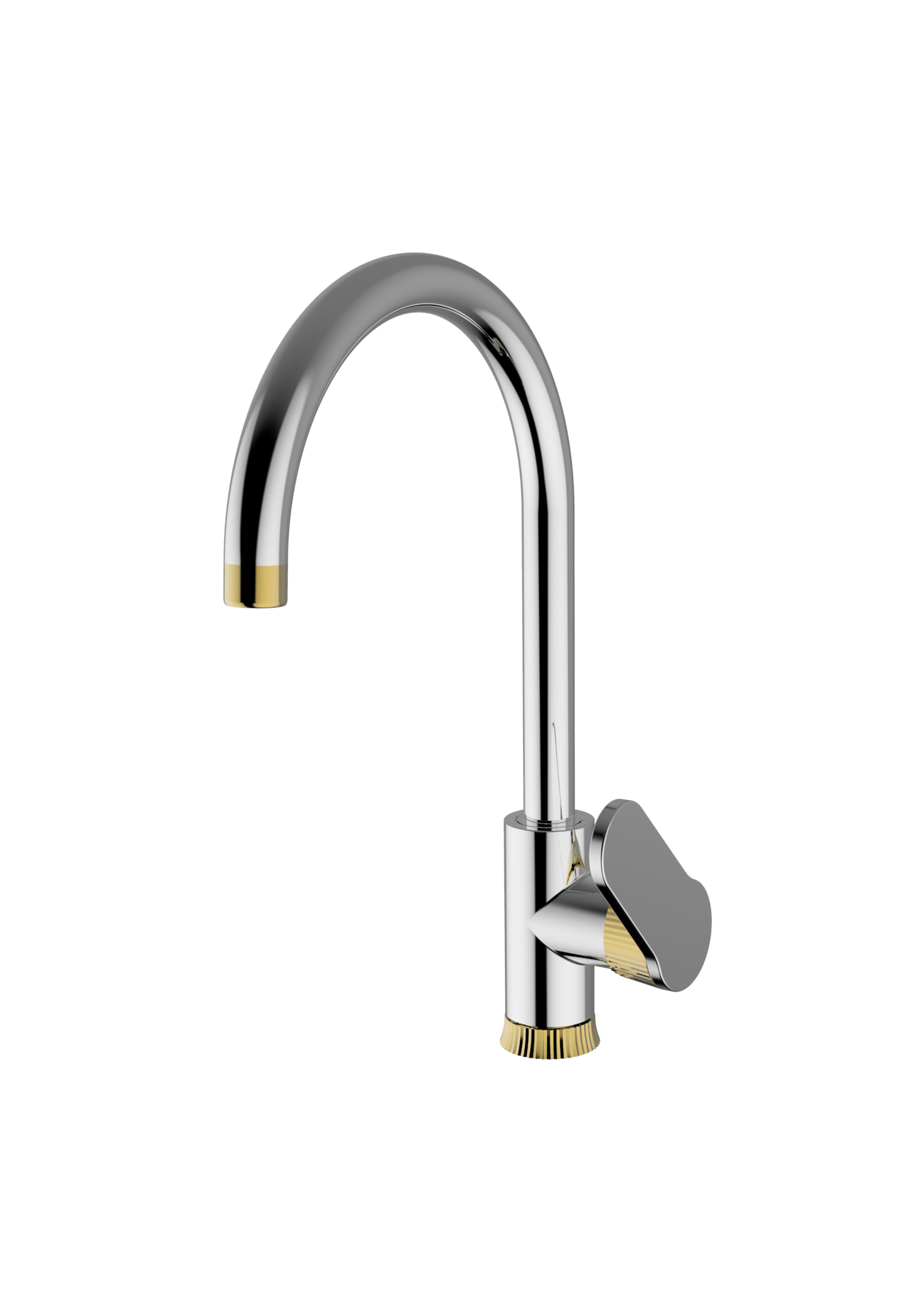 Immagine HD DIAMOND Sink mixer swivelling spout with decorative ring