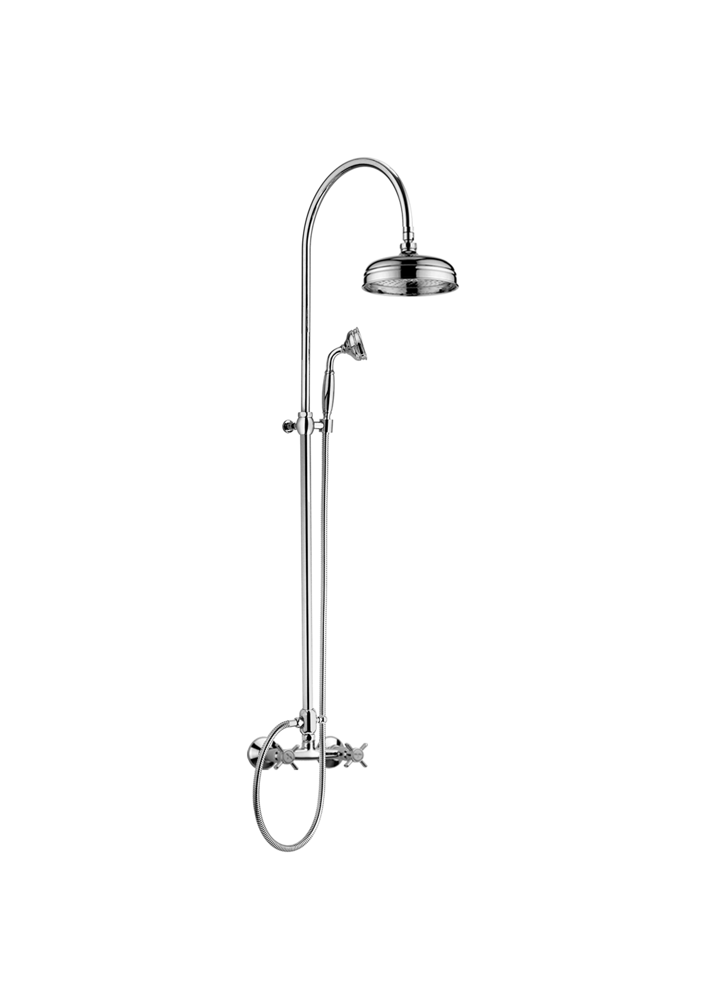 Immagine HD Shower column with AMPHORE shower mixer, with diverter, with brass shower head