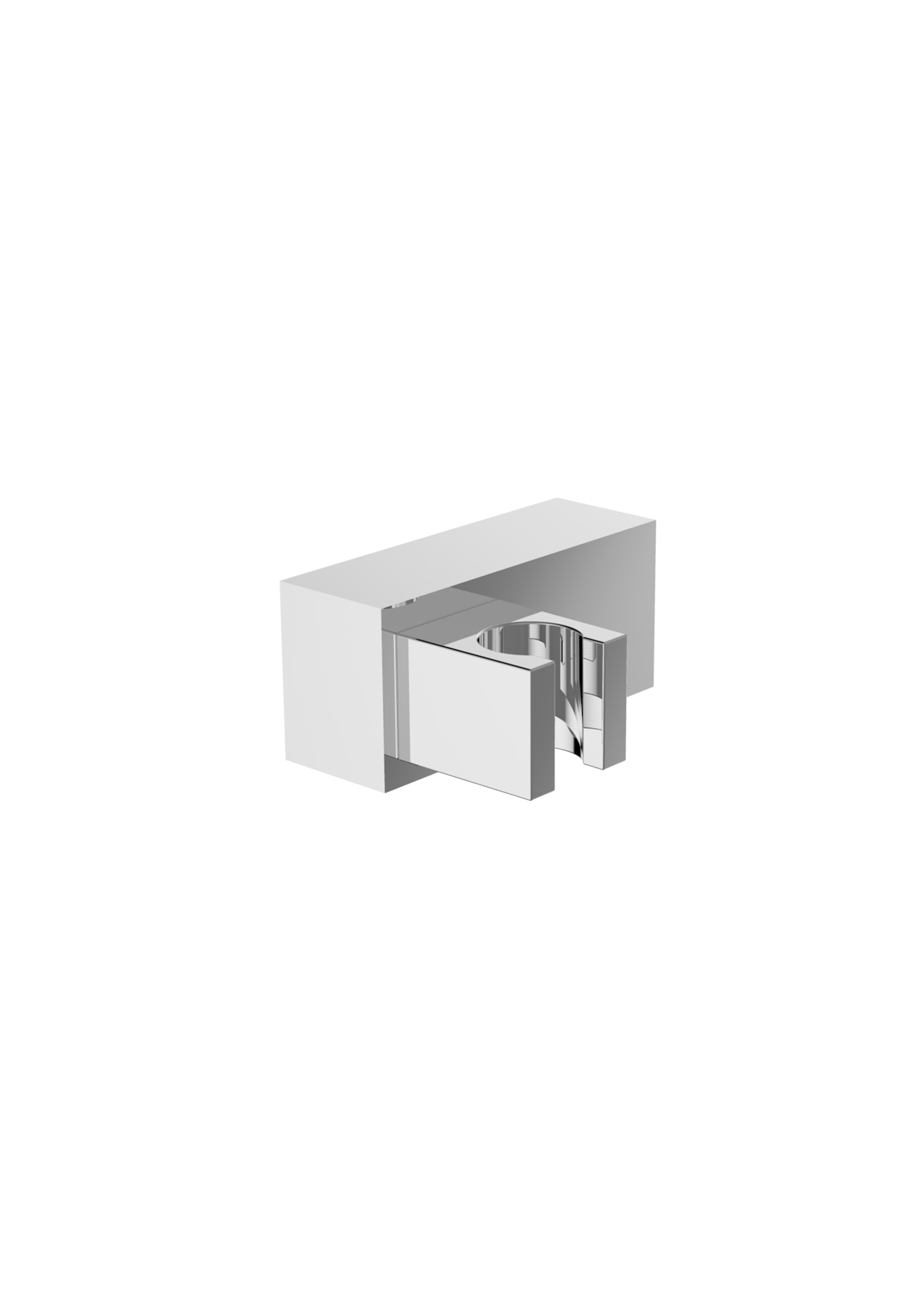 Immagine HD Adjustable ABS square shower holder