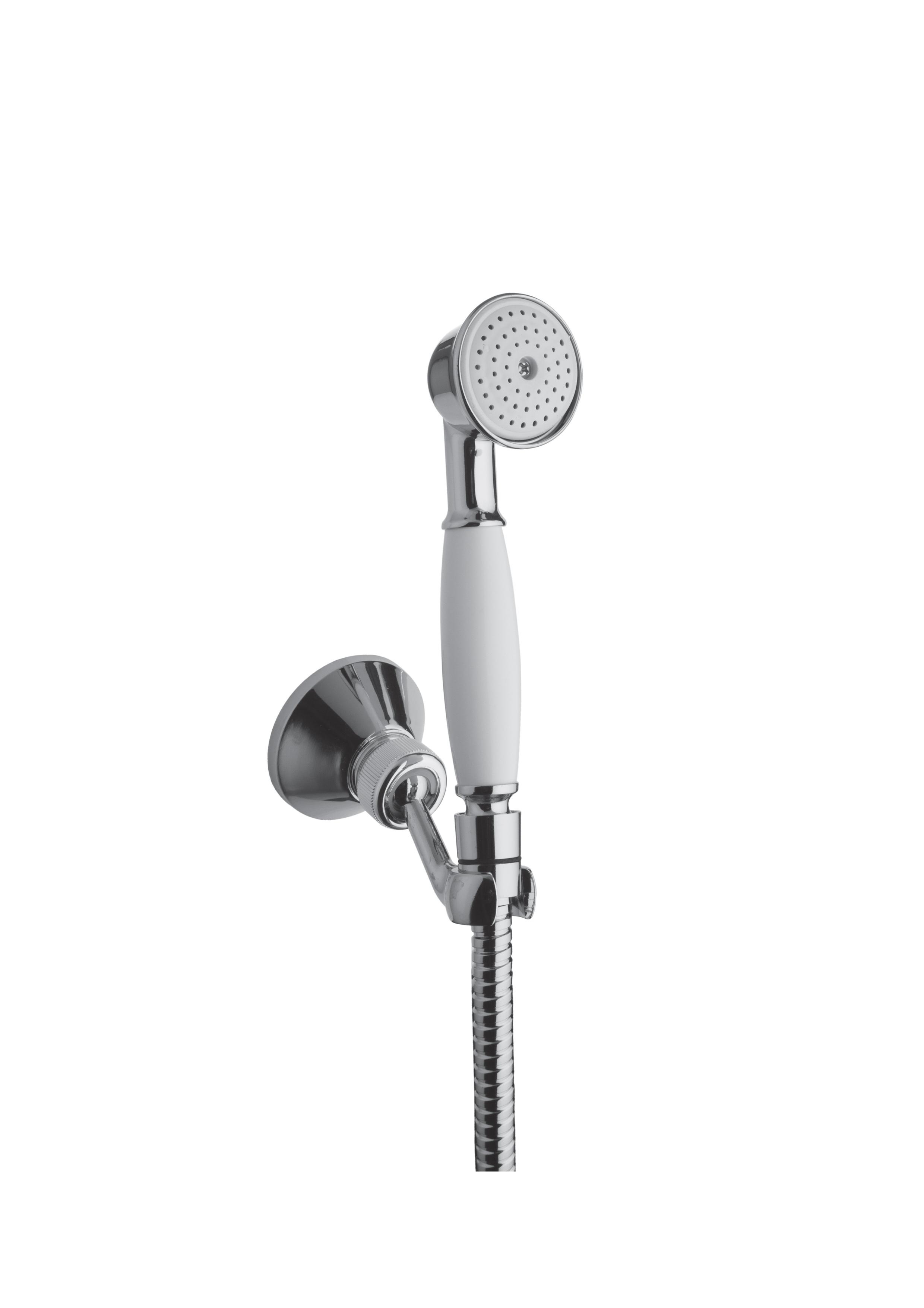 Immagine HD VINTAGE shower set (flex L=1500mm, brass hand shower, brass shower holder)