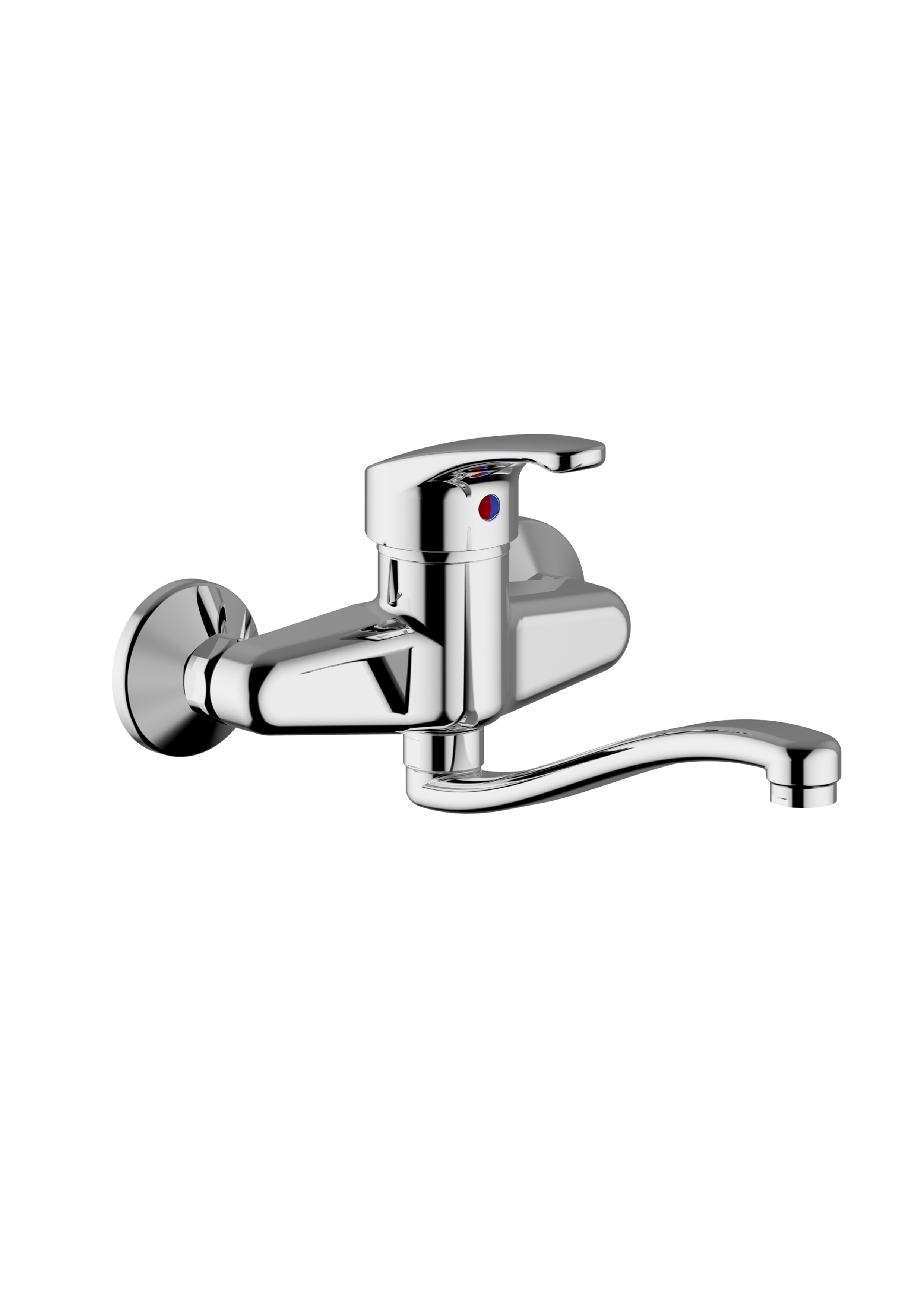 Immagine HD Wall mounted sink mixer , S spout