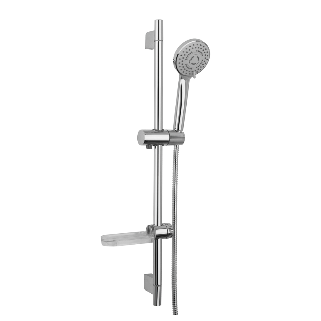 Immagine HD Slide bar L=710mm with soap holder, MAXIMA 3 jets hand shower and metal flex L=1500mm