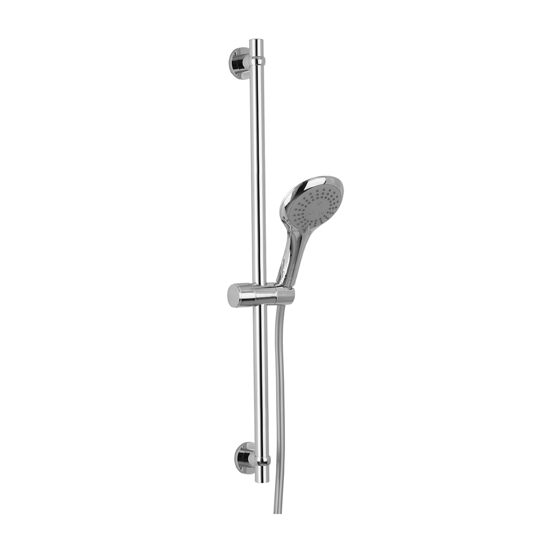 Immagine HD MAGNIFICA slide bar L=750mm with 3 jets hand shower and Silver flex L=1500mm