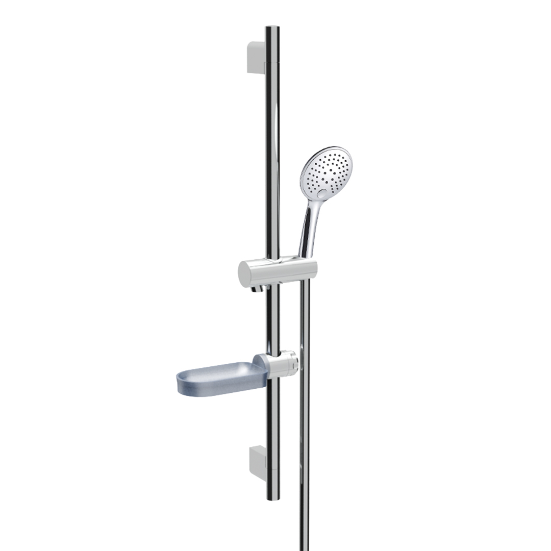 Immagine HD Slide bar L=710mm with soap holder, SELECTA 3 jets hand shower and metal flex L=1500mm