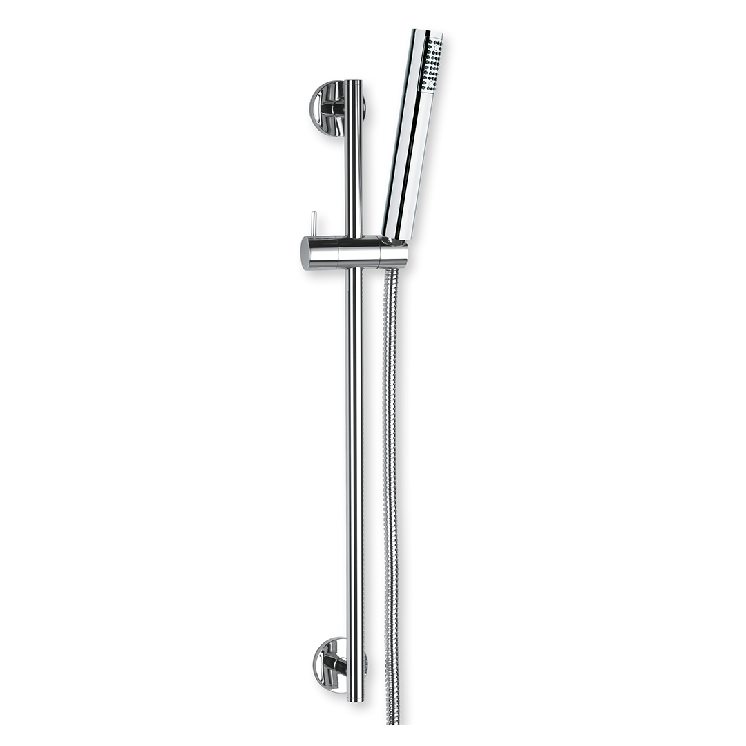 Immagine HD Round slide bar L=610mm with ABS hand shower and metal flex L=1500mm