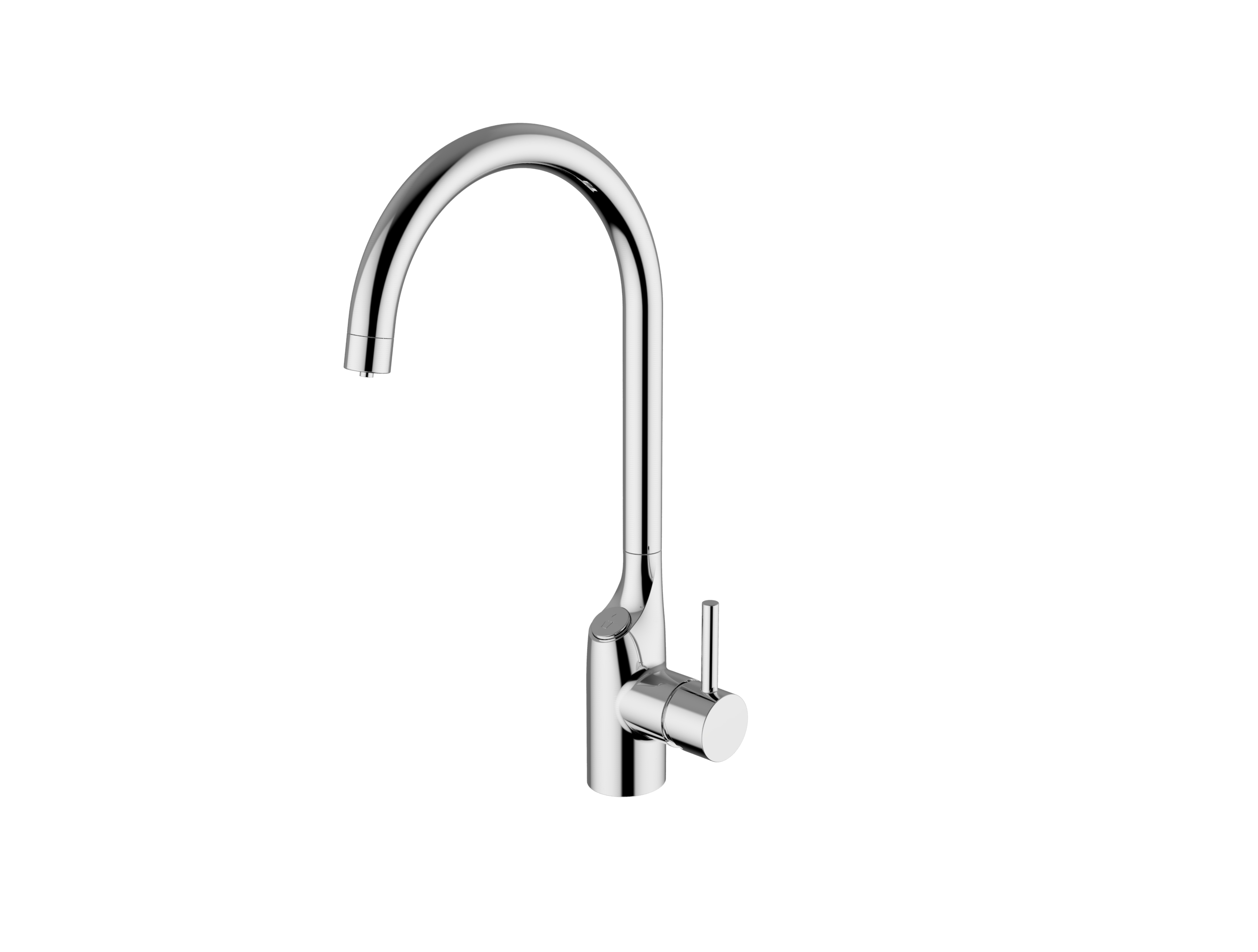 Immagine HD sink mixer with 3 inlet hoses, with separate flow for drinking water. with push-button control