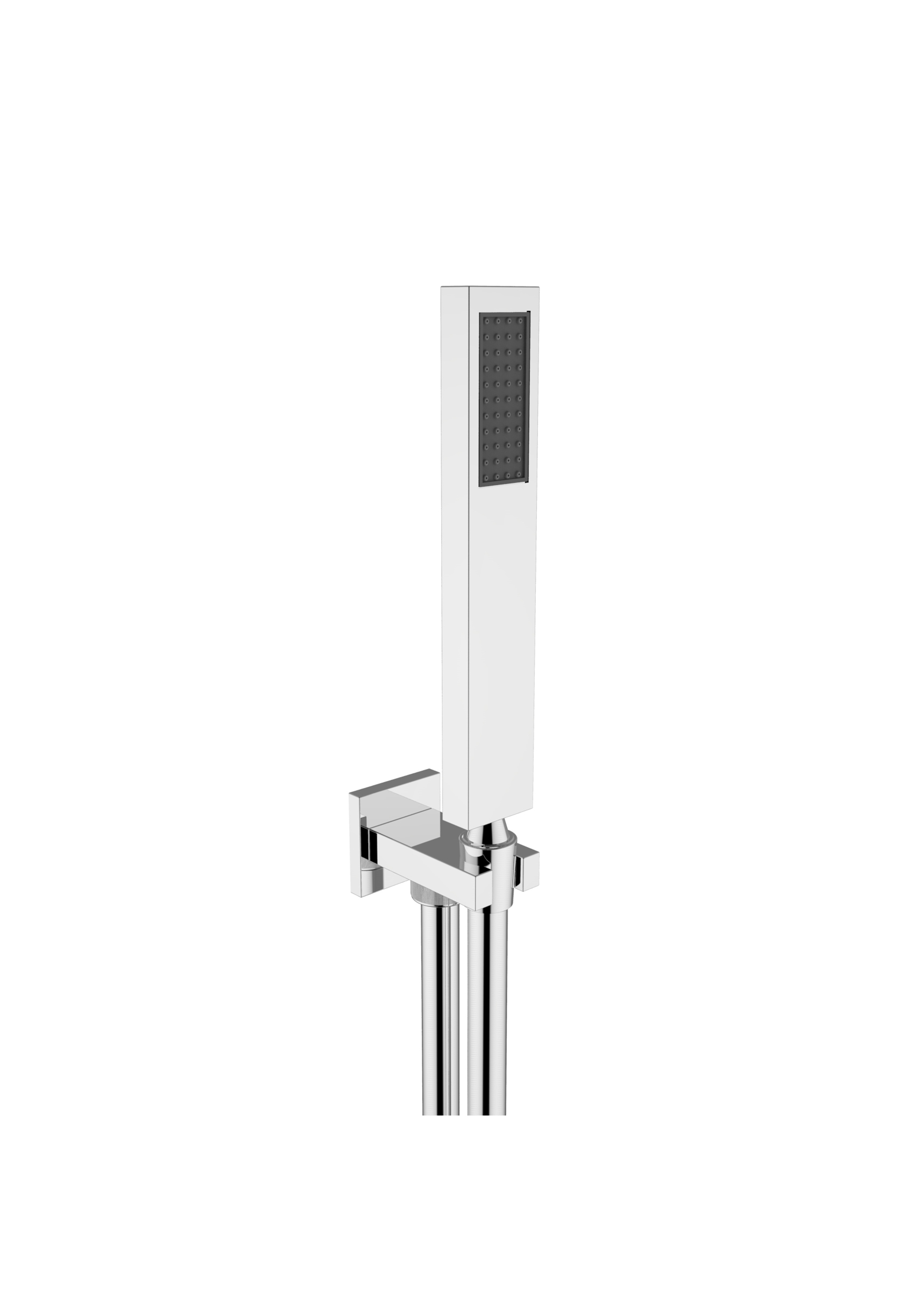 Immagine HD Square shower kit (water outlet, Silver flex L=1500mm, brass hand shower)