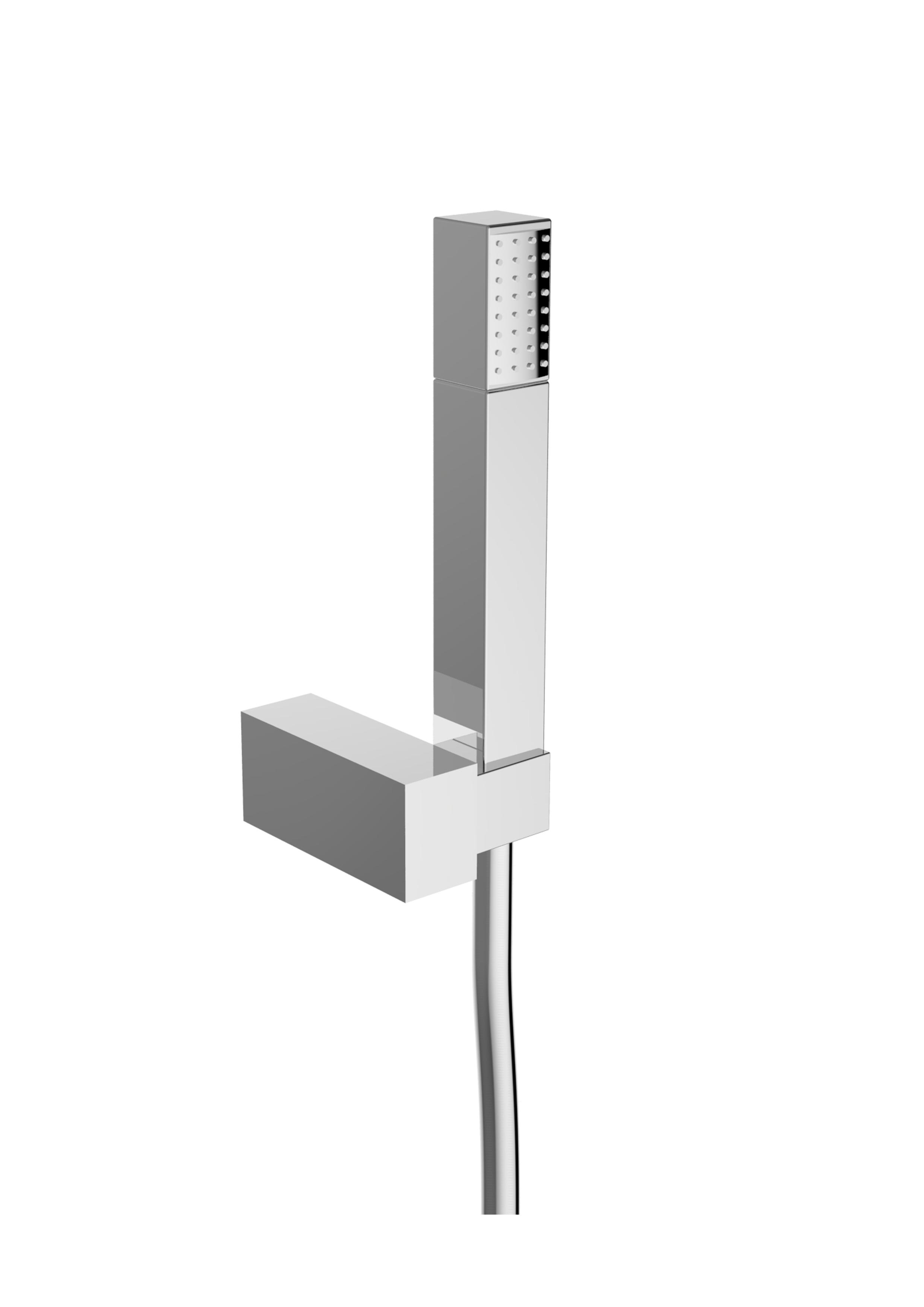 Immagine HD Shower set (metal flex L=1500mm, ABS hand shower, ABS shower holder)