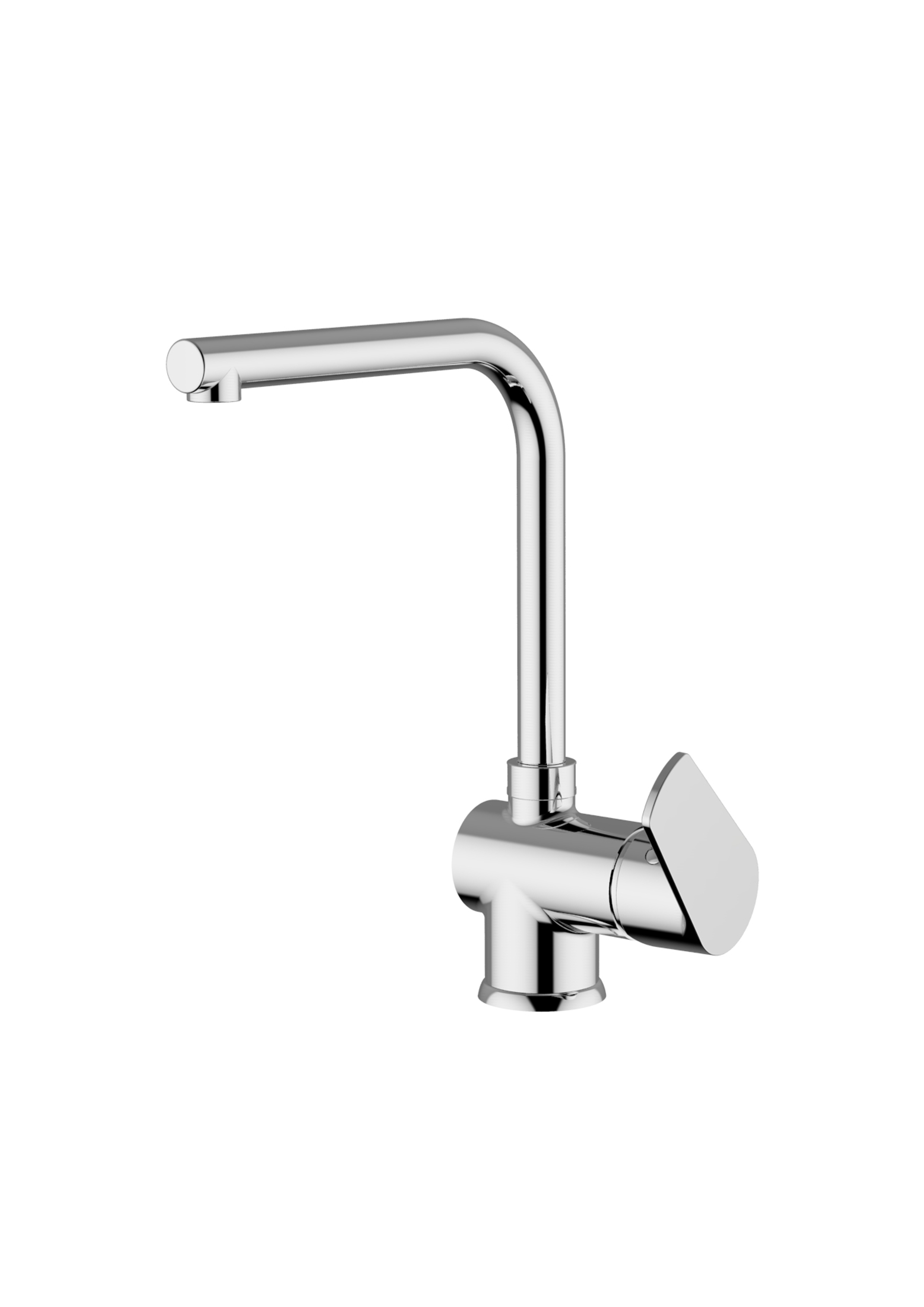 Immagine HD NASHI Sink mixer with swivelling L spout