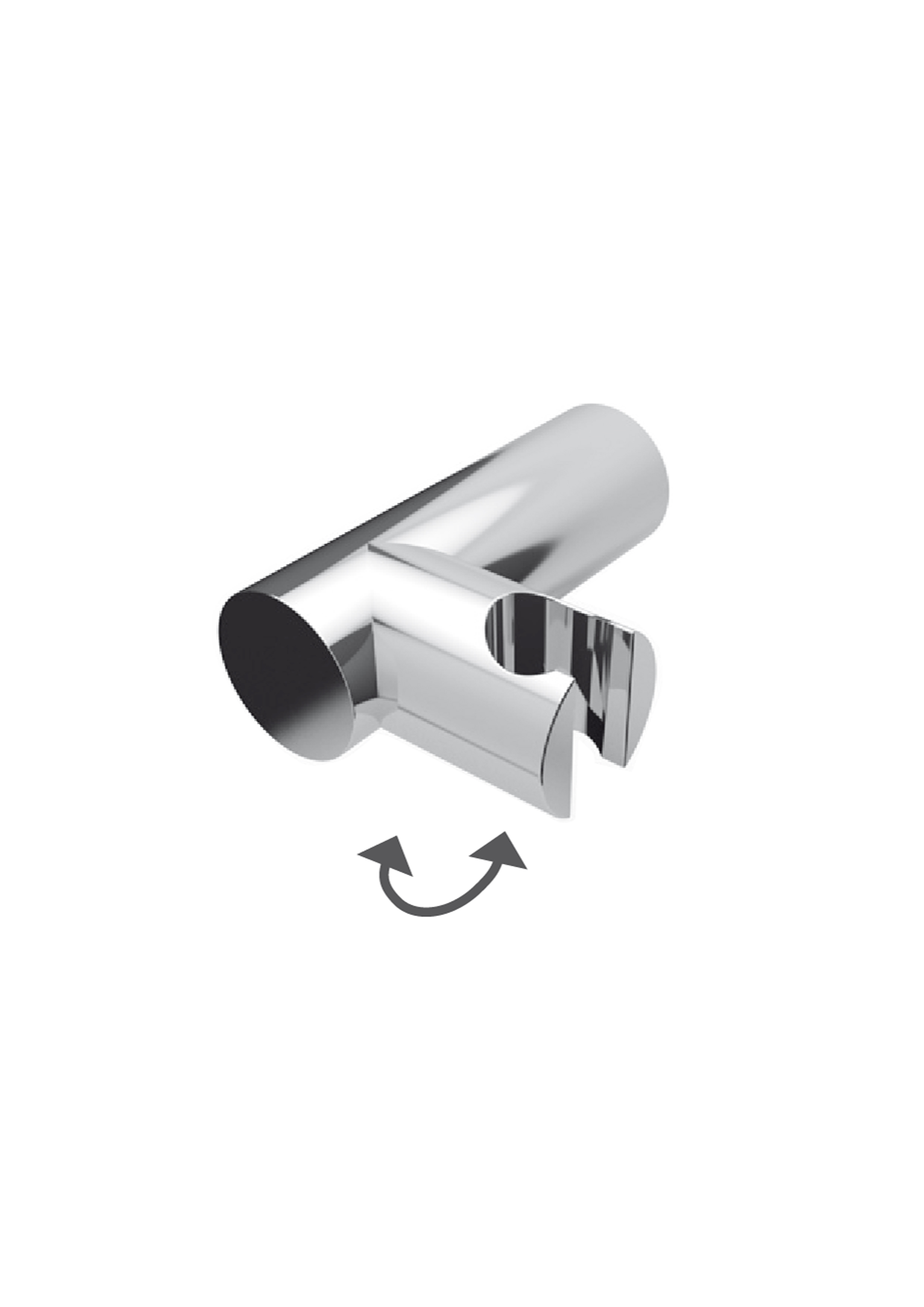Immagine HD Adjustable ABS round shower holder