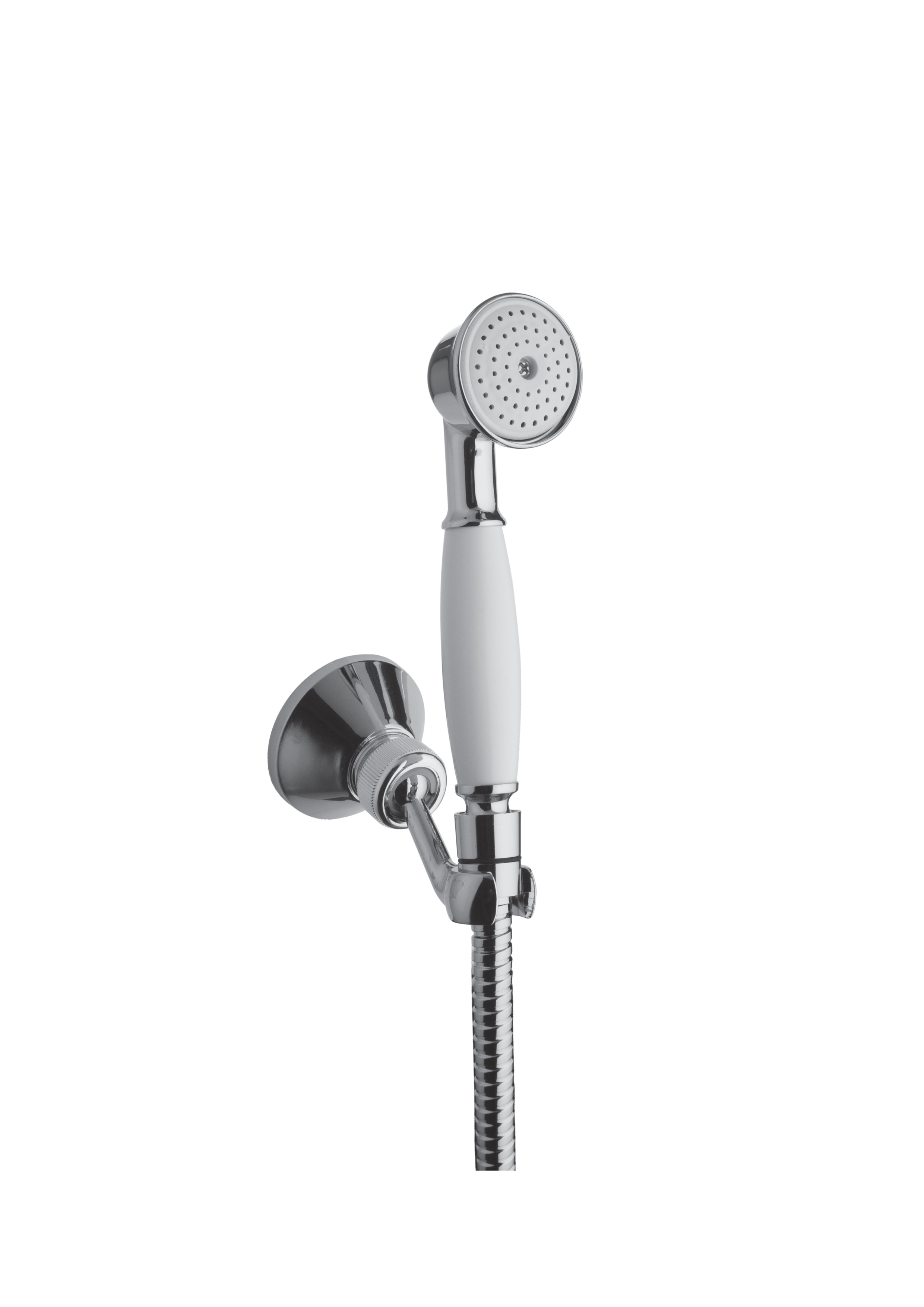 Immagine HD VINTAGE shower set (flex L=1500mm, brass hand shower, brass shower holder)
